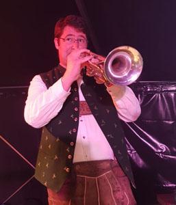 Andi an der Trompete